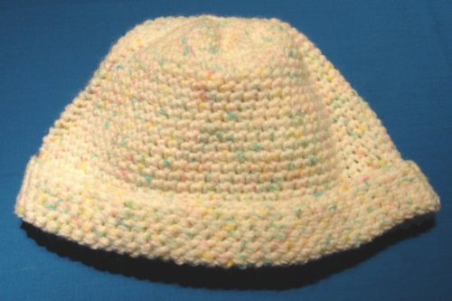 Ski Cap / Beanie Crochet Pattern in Baby Yarn for Toddlers 1 - 3 Years Old