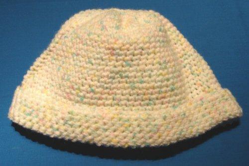 (Ski Cap / Beanie Crochet Pattern in Baby Yarn for Toddlers 1 - 3 Years)