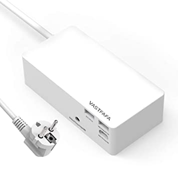 VASTFAFA - Regleta con Cargador USB C, Puerto USB Quick ...