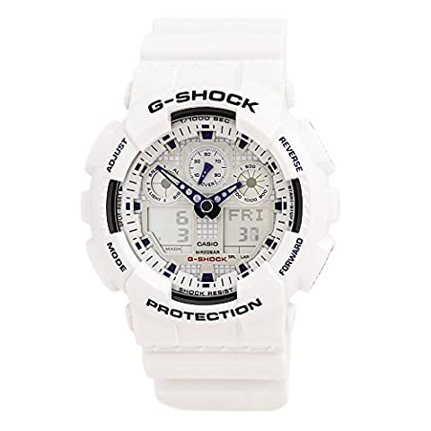 G-Shock GA100A-7A X-Large Men's White Resin Sport Watch (G Shocks X Large)