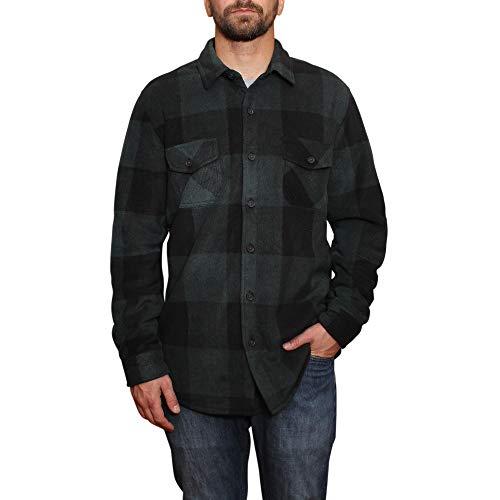 Freedom Foundry Men's Fleece Super Plush Shirt Jacket (Pine Grove, M)