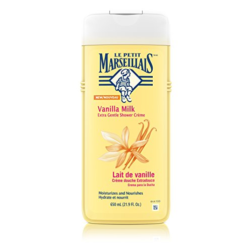Le Petit Marseillais Extra Gentle Shower Crème with Vanilla Milk, Moisturizing & Nourishing French Body Wash for pH Neutral for Skin, 21.9 fl. - Vanilla Soap French