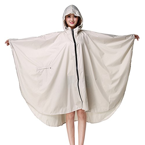 Camping Emergency Poncho Waterproof Mac Festivals Dot Adult Rain Printed Parks Hooded Farming Raincoat Hoods 150 Through Flower Theme Beige Reusable See With Rain 175cm Rain for Rainwear Cape Fishing g0qYP