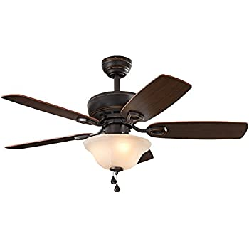 Harbor Breeze Sage Cove 44 In Bronze Downrod Or Close Mount Indoor Ceiling Fan With Light Kit