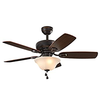 Harbor breeze sage cove 44 in bronze downrod or close mount indoor harbor breeze sage cove 44 in bronze downrod or close mount indoor ceiling fan with aloadofball Image collections
