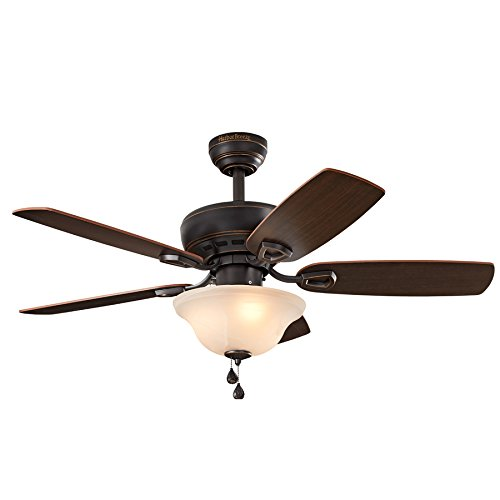 ove 44-in Bronze Downrod or Close Mount Indoor Ceiling Fan with Light Kit (Bowl Light Kit Cocoa)