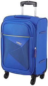 Safari Prisma 55 Cms Polyester Blue Cabin 4 wheels Soft Suitcase