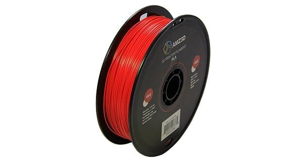 Amazon.com: Filamento para impresora 3D PLA, rojo, de 1,75 ...