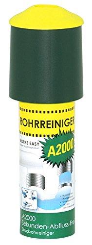 10 Stück purclean Rohrreiniger A2000 mit 125 ml - Der Abflussreiniger macht Pümpel, Pömpel u. Rohrreinigungsspirale überflüssig!