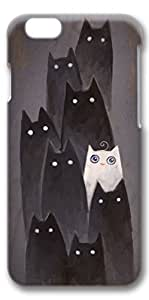 i phone 6 case, iphone 6 case, iphone 6 4.7 cases 3D Hard back cases cover skin protector I Am White Cat