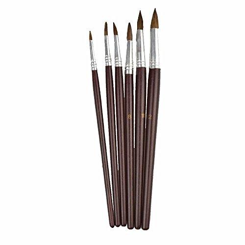 Pinselset 6 Haarpinsel 2-4-6-8-10-12