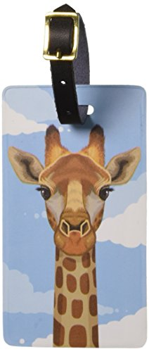 Graphics & More Giraffe in Sky-Safari Animal Luggage Tags Suitcase Carry-on Id, White (Animal Luggage Tag)