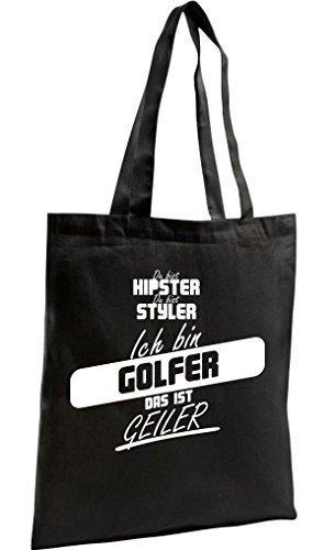 Shirtstown Bolso De Compras Organic Zen, Shopper du estas hypster du estas styler estoy Golfista das ist horny Negro