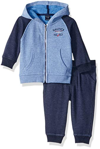 (Nautica Sets (KHQ) (RJ7QG) Kids & Baby 2 Pieces Jog Set, Blue/Navy 6-9 Months)