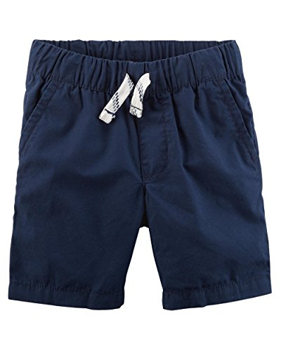 (Carter's Little Boys' Pull-on French Terry Shorts (3T, Poplin/Navy))