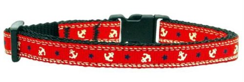 Anchors Nylon Ribbon Collar Red Cat Safety (24 Pack) [Misc.]