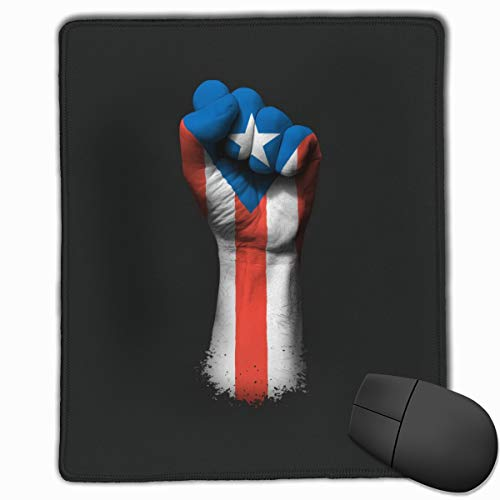 AVBER Mouse Pad Anti Slip Flag of Puerto Rico On A Raised Clenched Fist Mouse Mat for Desktops Computer PC and Laptops, Gaming Mouse Mat Fantasy for Office and Home