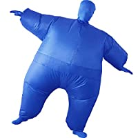 HUAYUARTS Inflatable Full Body Suit Costume Adult Funny Cosplay Cloth Party Toy Gift for Halloween Christmas, Free Size, Blue
