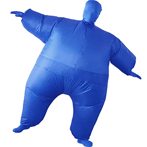 HUAYUARTS Inflatable Full Body Suit Costume Adult Funny Cosplay Cloth Party Toy Gift for Halloween Christmas, Free Size, Blue]()