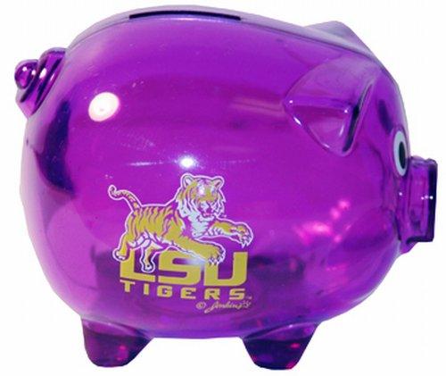 NCAA Louisiana State Fightin Tigers Plastic Piggy Bank (Tigers Piggy Bank)