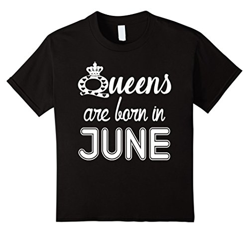 Queens Are Born In JUNE T-Shirt 12 Black