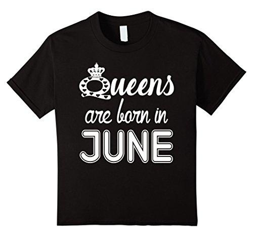 Queens Are Born In JUNE T-Shirt 12 Black