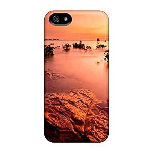 Fashion Protective Amazing Calm Sunset Lake Case Cover For Iphone 5/5s
