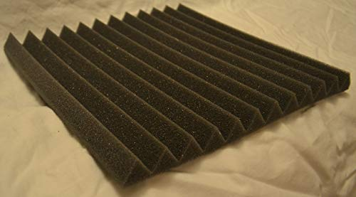 FOAMENGINEERING 48-Pack Acoustic Panels Studio Soundproofing Foam Wedge tiles 1''x12''x12'' 100% Made in USA- Great for music sound and noise reduction. by FoamEngineering (Image #4)