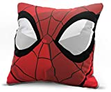 Jay Franco Marvel Avengers Spidey Face Decorative Pillow Cover - Kids Super Soft 1-Pack Throw Pillow Cover Features Spiderman - Measures 15 Inches x 15 Inches (Official Marvel Product)
