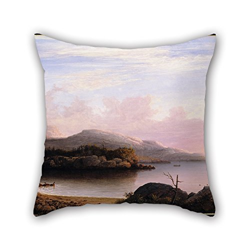 Oil Painting Fitz Henry Lane - Off Mount Desert Island Pillowcase 16 X 16 Inches / 40 By 40 Cm Gift Or Decor For Living Room,kitchen,home,festival,girls,floor - 2 Sides