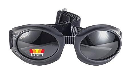 ce0da97c82b Image Unavailable. Image not available for. Color  Airfoil Unisex-Adult  Biker sunglasses (Black Frame Polarized ...