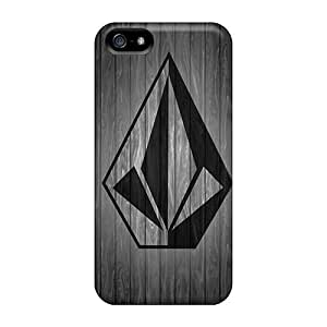 Awesome Volcom Wood Flip Case With Fashion Design For Iphone 5/5s