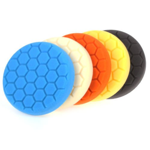 5 pack 6'' Five Color Functions Buffing Pads Sponge Polishing Pad Kit For Car Polisher Finest Foam Durability Suitable for All Models of Vehicles Car by EEEKit (Image #2)