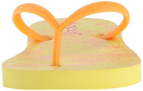 Reef Mädchen Little Chakras Prints Flip-Flop Amarillo (Yellow Floral)