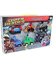 Super Heroes Cars - 6 Pieces