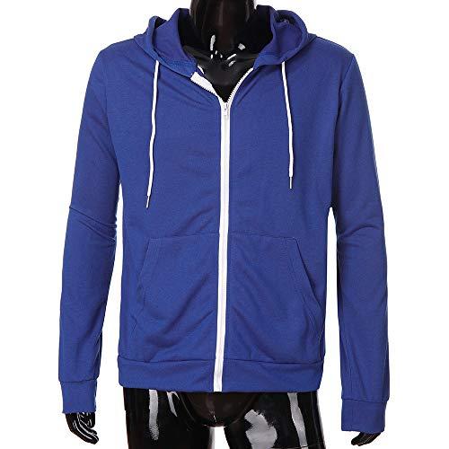 con Manga zarupeng Azul Larga Invierno Sudadera Hombre capucha Capucha Baseball Sweater Sudadera para con Chaquetas Jacket Hoodie qRf5gwTR