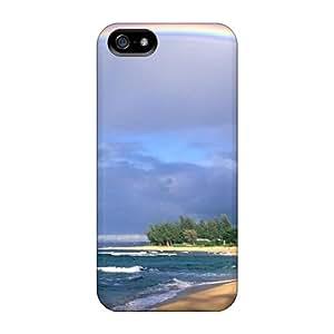 New Premium Flip Case Cover Amazing Rainbow Skin Case For Iphone 5/5s