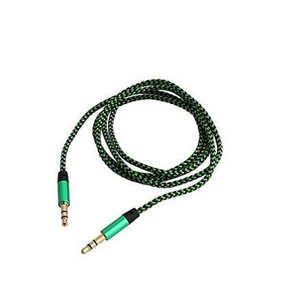 eDealMax Nylon Car Stereos cuerda trenzada Macho a Macho de extensión de Audio Cable conector DE