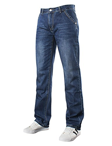 Demon hunter Relaxed Series Men's Loose Fit Relaxed Jeans DH8009(40) ()