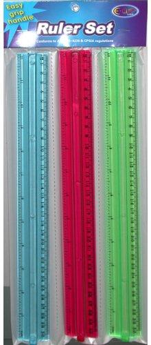 Easy Grip Ruler set 3/pack Case Pack 48