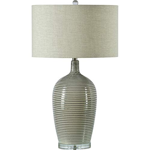 Amazon.com: Lámpara de mesa Violeta en acabado gris y blanco ...