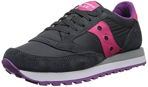 Saucony Originals Women's Jazz Original Fashion Sneaker,Charcoal/Pink, 8 M
