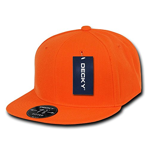 DECKY Retro Fitted Cap, Orange, 7