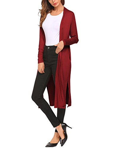 Beyove Woman Classic Soft Long Sleeve Open Front Cardigan Sweater ()