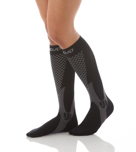 Authentic  Mojo Sports Compression Socks For Recovery   Performance  Compression Stockings   Black  Large