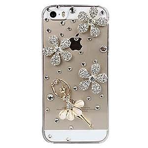 SHOUJIKE Dancing Crystal Girl Design Back Case for iPhone 5/5S