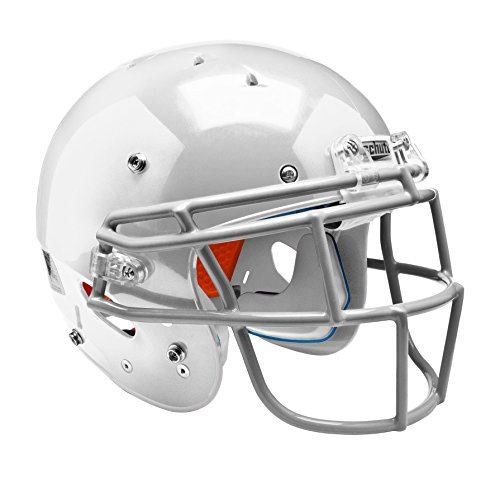 (Schutt Sports Youth Recruit Hybrid Football Helmet with DNA Ropo YF Attached Guard, White/White,)