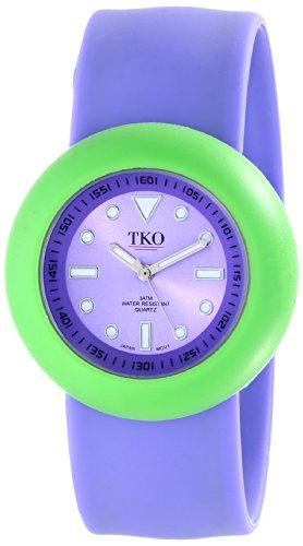 TKO ORLOGI Women's TK590-PGP Purple Rubber Slap Watch