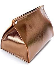 Solid Colors PU Leather Tissue Box Tissue Box Cover Rectangular for Livingroom,and Car (