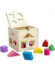 ألعاب تعليمية خشبية الشكل مطابقة كتل اللعب للأطفال